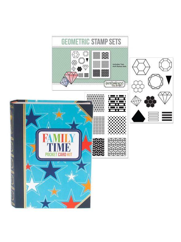 January Pocket Kit Geometric Stamp Bundle